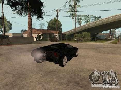 GTA4 Infernus para GTA San Andreas traseira esquerda vista