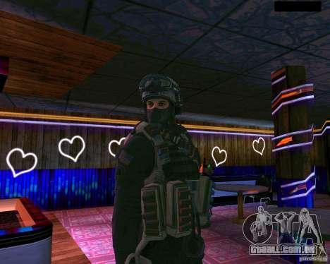 A segunda pele do CoD MW 2 para GTA San Andreas segunda tela