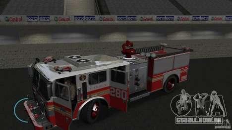 NEW Fire Truck para GTA 4 esquerda vista