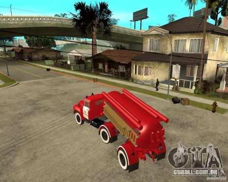 O caminhão de bombeiros AB-6 (130В1) para GTA San Andreas esquerda vista