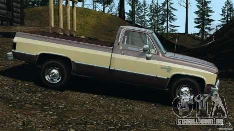 Chevrolet Silverado 1986 para GTA 4 esquerda vista