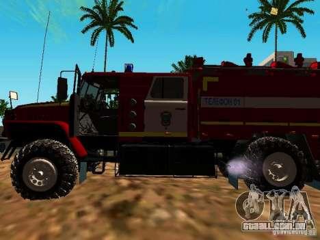 Fogo de Ural 5557-40 para GTA San Andreas vista traseira