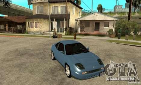 Fiat Coupe - Stock para GTA San Andreas vista traseira