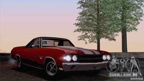 Chevrolet El Camino SS 70 Fixed Version para GTA San Andreas traseira esquerda vista
