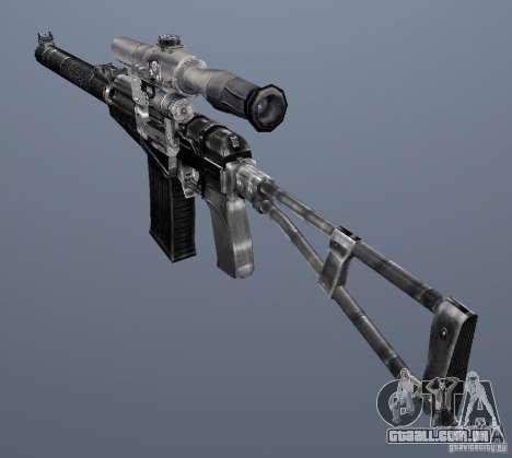 Como o Rifle de assalto do Val para GTA San Andreas quinto tela