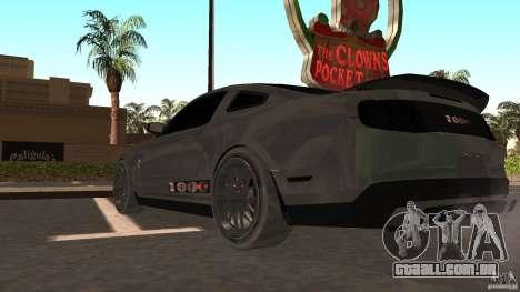 Shelby Mustang 1000 para GTA San Andreas traseira esquerda vista