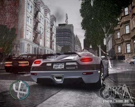 Koenigsegg Agera para GTA 4 vista direita