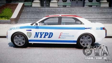 Carbon Motors E7 Concept Interceptor NYPD [ELS] para GTA 4 vista interior
