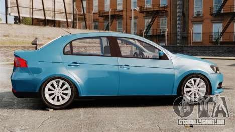 Volkswagen Voyage G6 2013 para GTA 4 esquerda vista