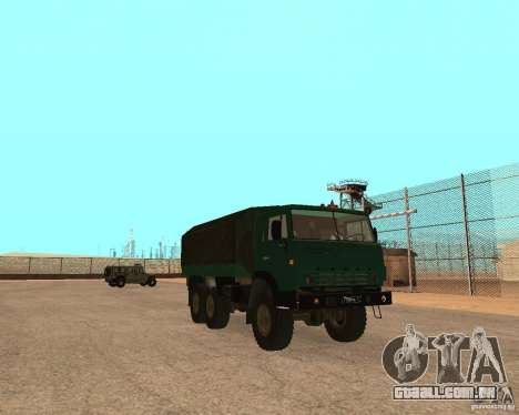 KAMAZ 4310 para GTA San Andreas traseira esquerda vista