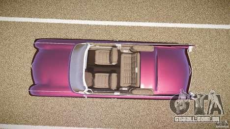 Cadillac Eldorado 1959 interior black para GTA 4 vista de volta