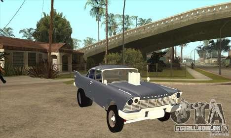 Plymouth Savoy Gasser 1957 para GTA San Andreas vista traseira