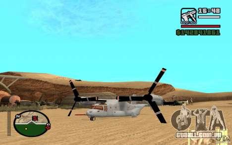 Bell V-22 Osprey para GTA San Andreas vista direita