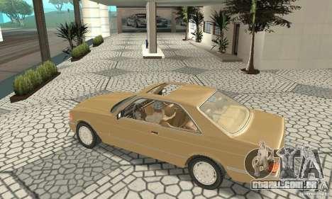 Mercedes-Benz W126 560SEC para GTA San Andreas vista traseira