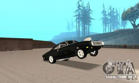 Dodge Charger RT 1970 The Fast & The Furious para vista lateral GTA San Andreas