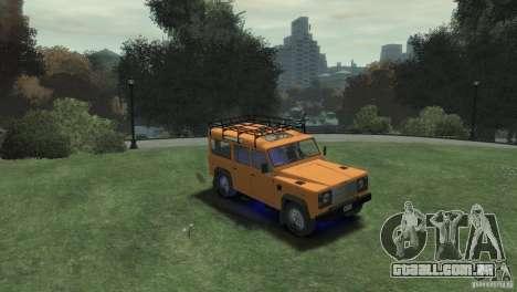 Land Rover Defender Station Wagon 110 para GTA 4 vista direita