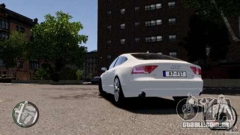 Audi A7 Sportback para GTA 4 vista direita