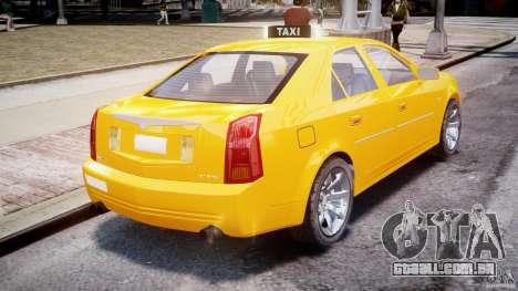 Cadillac CTS Taxi para GTA 4 traseira esquerda vista
