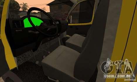 Carrinhas de Novosibirsk gazela 32213 para GTA San Andreas vista interior