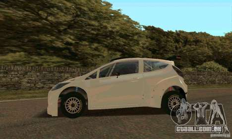 Ford Fiesta Rally para GTA San Andreas interior