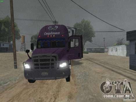 Freightliner Cascadia para GTA San Andreas vista interior