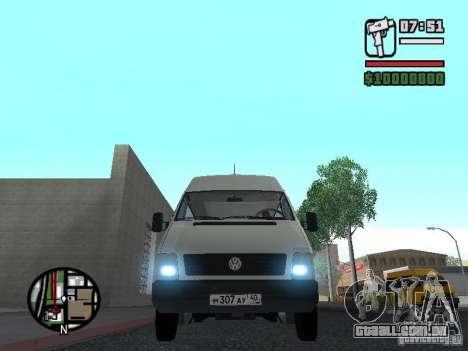 Volkswagen LT 35 Passažirsikj para GTA San Andreas esquerda vista