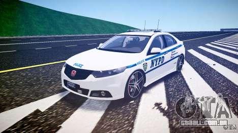 Honda Accord Type R NYPD (City Patrol 2322) ELS para GTA 4 vista de volta