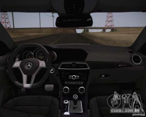Mercedes-Benz C63 AMG Black Series para GTA San Andreas traseira esquerda vista