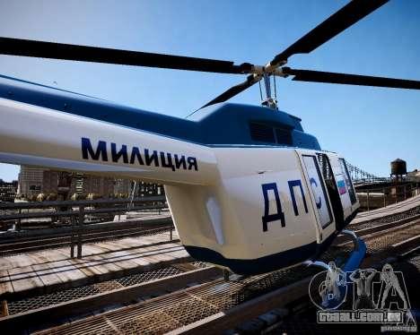 Russian Police Maverick para GTA 4 esquerda vista