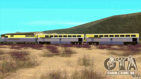 Latvian Train para GTA San Andreas esquerda vista