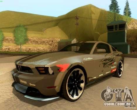 Ford Mustang Boss 302 2011 para GTA San Andreas vista superior