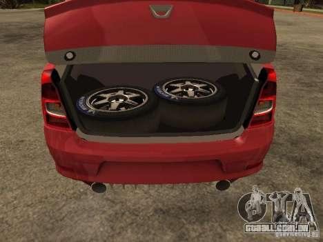 Dacia Logan Rally Dirt para GTA San Andreas vista traseira