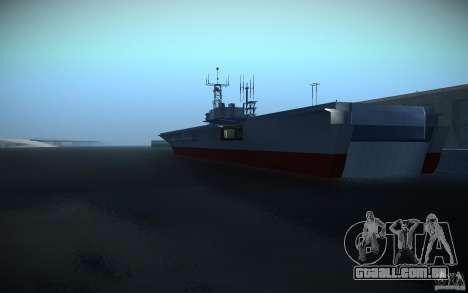 Porta-aviões V2 Final para GTA San Andreas segunda tela