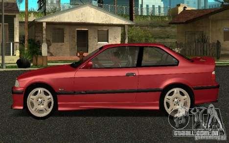 BMW E36 M3 1997 Coupe Forza para GTA San Andreas esquerda vista
