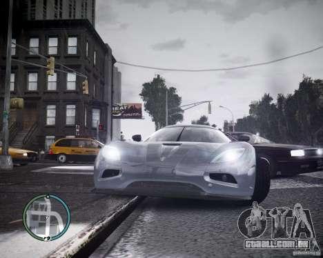 Koenigsegg Agera para GTA 4 esquerda vista
