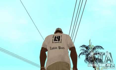LP shirt white para GTA San Andreas segunda tela