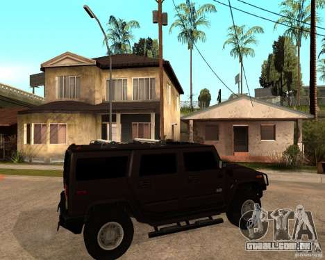 Hummer H2 SE para GTA San Andreas vista direita