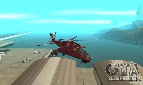 Mi-24 para GTA San Andreas vista traseira