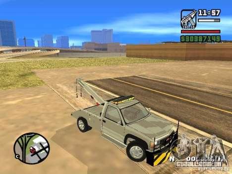 GMC Sierra Tow Truck para GTA San Andreas vista interior