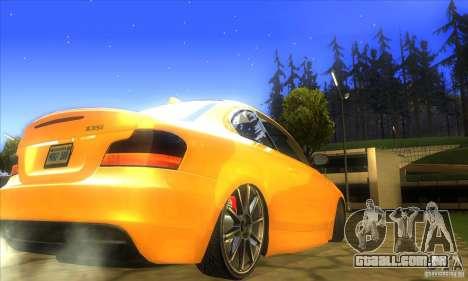 BMW 135i Coupe Custom para GTA San Andreas traseira esquerda vista