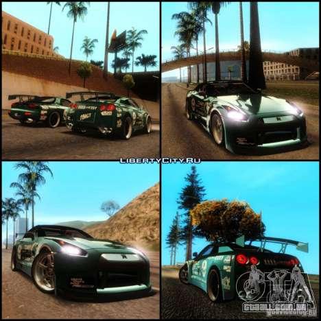 Nissan GT-R R35 rEACT para GTA San Andreas vista interior