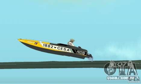 Cesa Offshore para GTA San Andreas vista interior