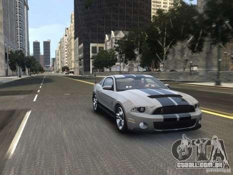 Shelby GT500 2010 para GTA 4 vista direita