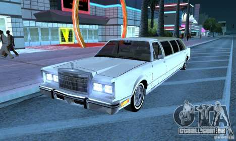 Lincoln Town Car 1986 Limo para GTA San Andreas