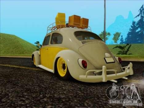 Volkswagen Beetle Edit para GTA San Andreas esquerda vista