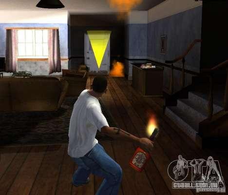 Coquetel Molotov para GTA San Andreas por diante tela