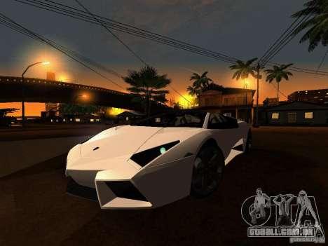 Lamborghini Reventon Roadster para GTA San Andreas esquerda vista