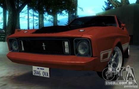 Ford Mustang Mach1 1973 para GTA San Andreas vista superior