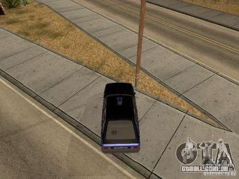 Patrulha AZLK 21418 para GTA San Andreas vista direita