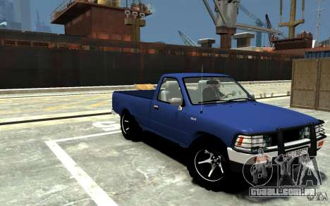 Toyota Hilux 1989-1993 Single cab v1 para GTA 4 vista de volta